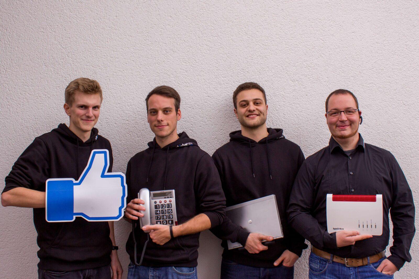 Unser Team bei Schleher in Wittenberg steht Ihnen bei sämtlichen IT-Dienstleistungen zur Verfügung